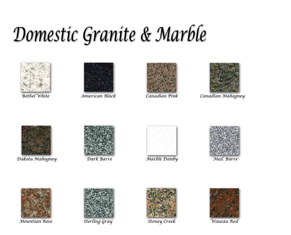 Granite Amp Marble Color Selections Headstones Monuments For